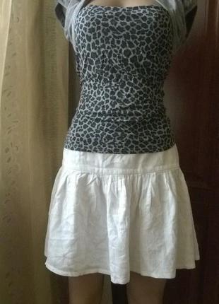 Легкая белая юбочка