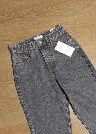 Zara джинсы mom