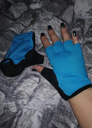 Летние велосипедные перчатки митенки b'twin