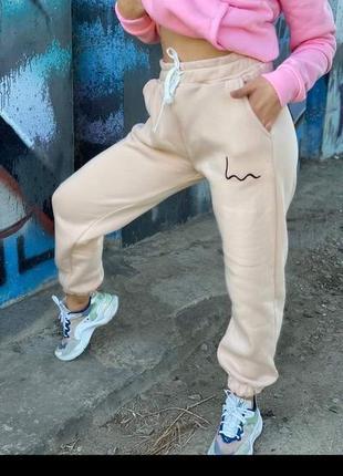 Спортивные штаны на флисе теплые