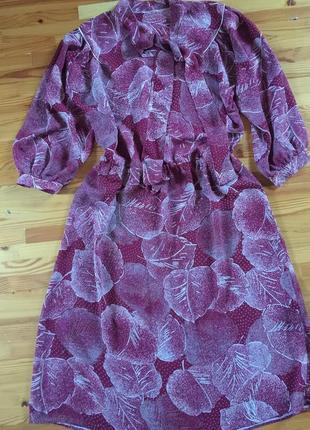 Платье винтаж крепдешин