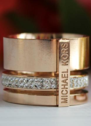 Широкое кольцо michael kors