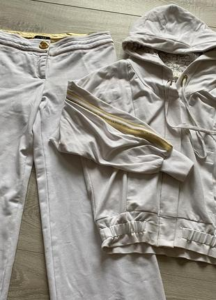 Белый спортивный повседневный костюм gizia тренд 2020