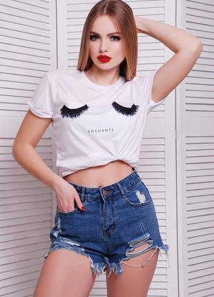 Прикольная женская футболка с принтом