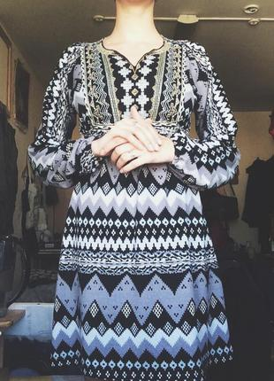 Платье-туника этно