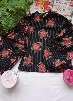 Шикарная коттоновая  кофточка блуза топ с объёмными рукавами буфами