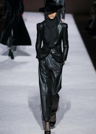 Черные кожаные брюки 100% кожа
