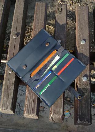 Портмоне кошелек гаманець тревелкейс из натуральной кожи. ручная работа
