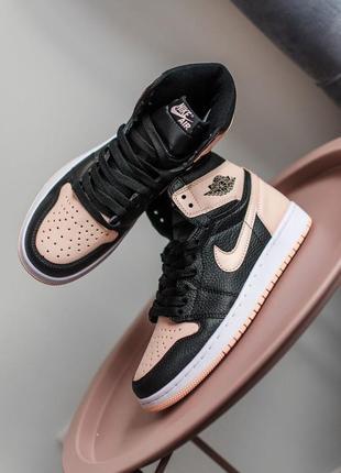 Nike air jordan 1 retro high black crimson tint женские кроссовки наложенный платёж купить