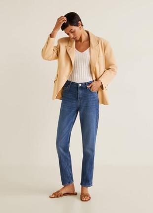 Новые плотные джинсы mango