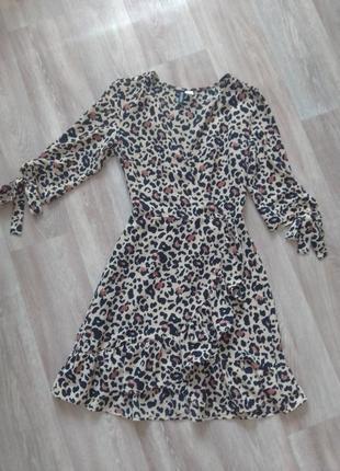 Платье леопардовое люкс, 🐅, из новой коллекции