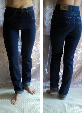 """Прямые  легкие фирменные джинсы """"lee"""" dallas с высокой талией. 26/32. 100% хлопок"""