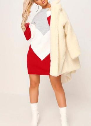I saw it first. товар куплен в англии. платье свитер в блочном дизайне.