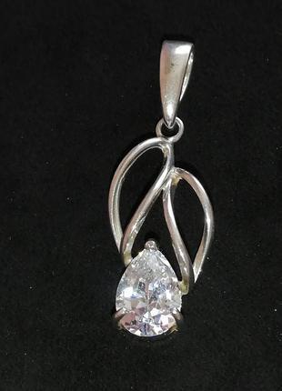 Кулон # подвеска серебряная б/у # срібна підвіска  лот 291