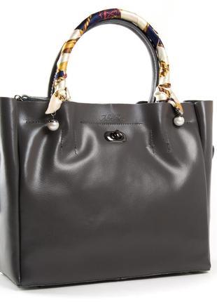 Молодежная женская сумка из натуральной плотной кожи, платок можна снять