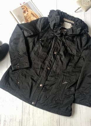 Куртка ветровка с воротником демисезонна