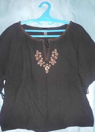Блуза с вышивкой, бренд h&м, р. 50