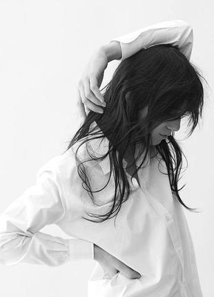 Белая рубашка бойфренд длинный рукав размер 8 burton menswear london