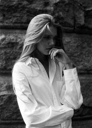 Белая рубашка оверсайз бойфренд длинный рукав размер 12 george