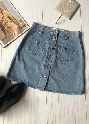 Джинсовая мини юбка  на болтах arizona jeans