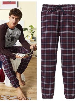 Теплые фланелевые домашние брюки,байковые штаны для отдыха livergy германия