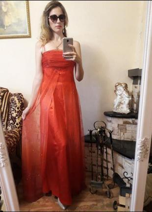 Платье вечернее шикарное шифон люрекс
