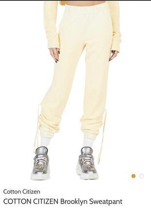 Cotton citizen brooklyn sweatpant штаны, из сша