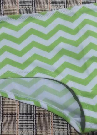 Плавки купальник зелёные шортики полоска george