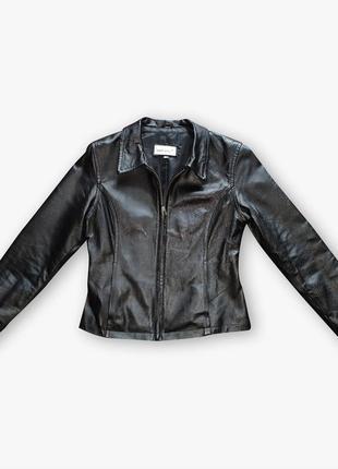 Черная классическая кожаная куртка outer edge, 100% натуральная кожа