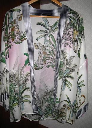 Яркая, нарядная шелковая блуза, шелк