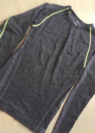 Термо футболка майка спортивная с рукавами серая crane m