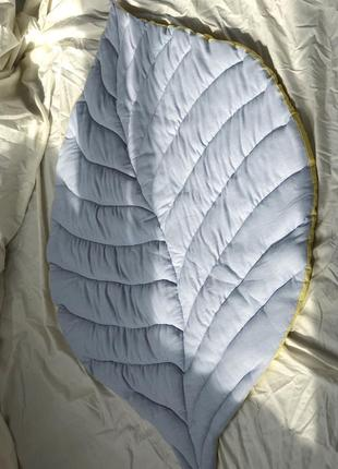 Коврик лист льняной. льняной текстиль