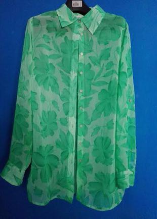 Актуальная сочная шифоновая блуза benotti 46-48р.