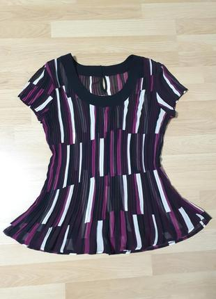 Шифоновая блуза плиссе