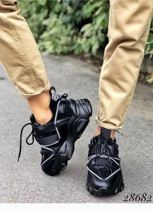 Стильные зимние кроссовки, хит сезона, кроссовки, кроссы, кеды, кроссовки на платформе