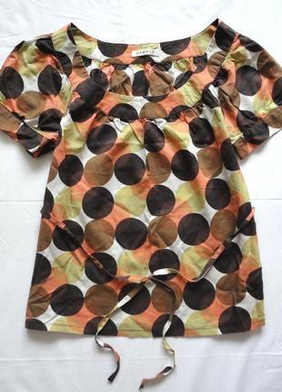 Блузка george хлопковая геометрический принт (горох) в актуальных оттенках