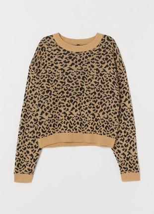 Леопардовый джемпер hm