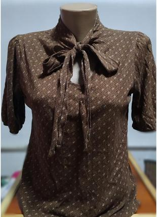 Кофта блузка блуза с бантиком с бантом с галстуком
