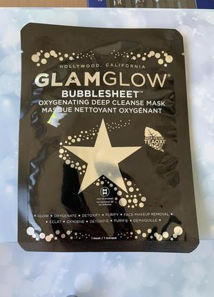 Глубокоочищающая кислородная маска glamglow bubblesheet oxygenating deep cleanse mask