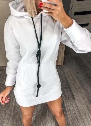 Платье худи на флисе