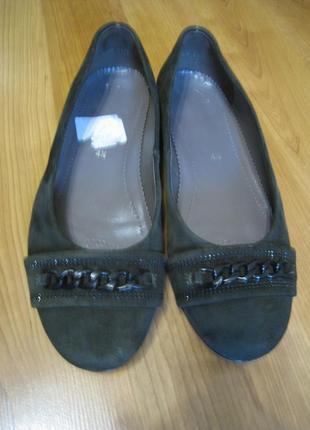 Кожаные женские туфли р.37 - 24,7см