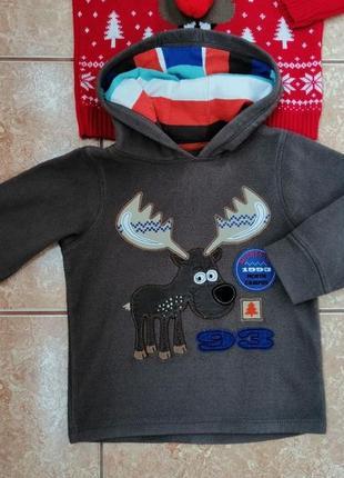 Стильный набор: теплая флисовая кофта флиска и нарядный свитерок deers7 фото