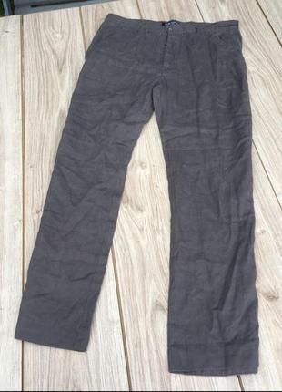 Стильные актуальные брюки лён 100% тренд m&s zara h&m asos штаны джинсы