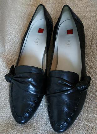 Hogl брендові фірмові шкіряні туфлі hogl туфли кожа женские