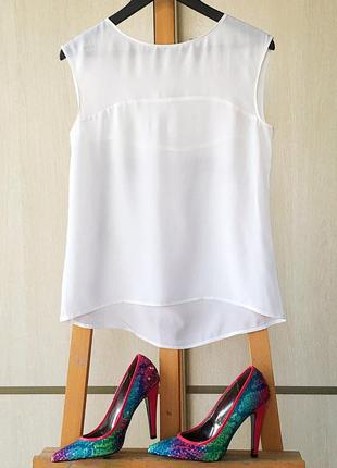 Красивая белая блуза! фото на теле!