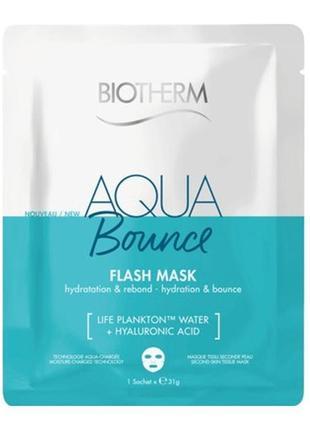 Aqua bounce flash mask тканевая маска для лица biotherm