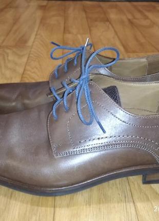 Lloyd 42p. офигительные кожанные туфли дерби. новые