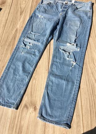 Стильные актуальные h&m штаны брюки джинсы тренд