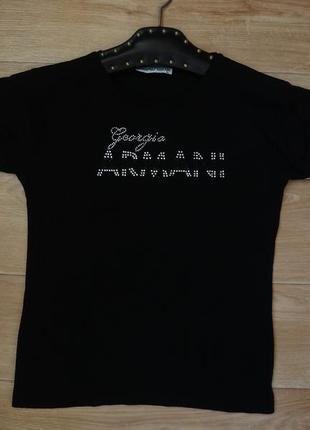Черная футболка armani