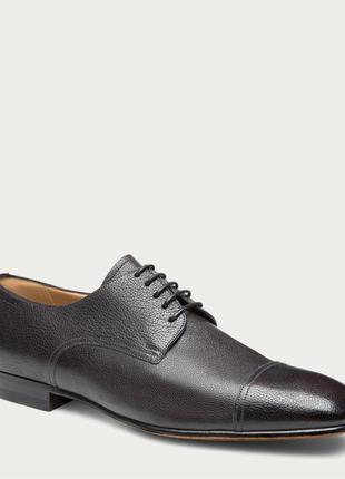 Классические кожаные туфли на шнурках bally branton men ́s leather lace up shoe in black
